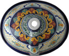 hand made talavera bathroom sink