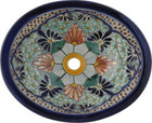 hand painted rustic talavera sink
