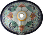 hand painted talavera bathroom sink