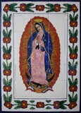 the Guadalupana bathroom wall tile mural