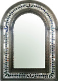 decorative tin mirror