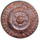 medium aztec copper calendar wall plaque