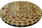 large aztec wooden calendar rustic wall accent table-top