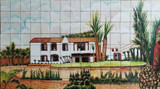 hacienda wall tile mural