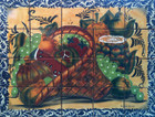 fruit basket 2 kitchen wall tile mural