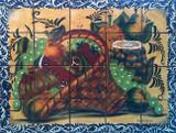 fruit basket 2 kitchen wall tile mural