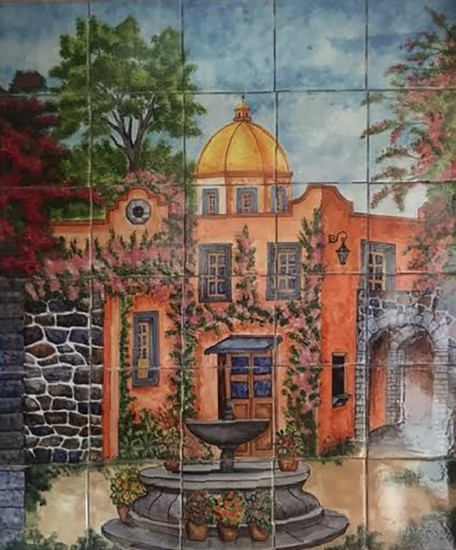 fountain kitchen tile mural