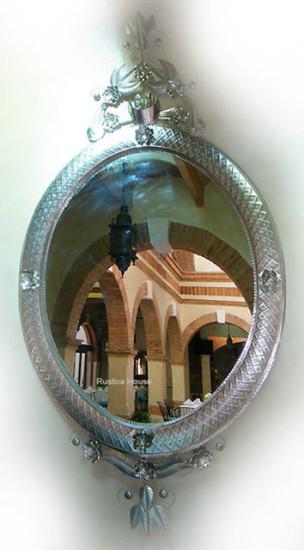 large tin mirror