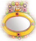colored tin mirror