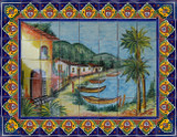 wonderful patio tile mural