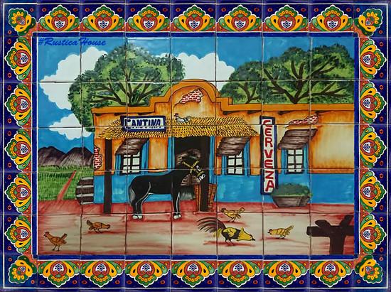 tile mural the canteen