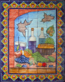 rustic kitchen tile mural