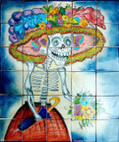 tile mural the catrina