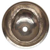 nickel-platted copper bathroom sink