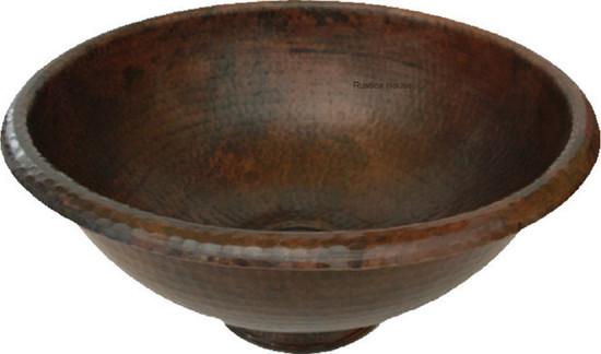 copper patina vessel sink