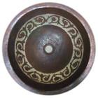 silver platter copper bath sink