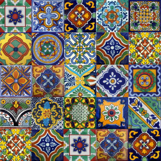 mexican tiles stair risers