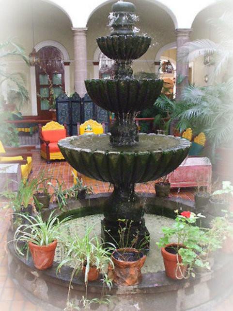 Mexican Cantera Stone Fountain