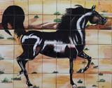 horse beautiful patio tile mural