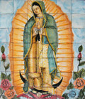 our lady virgin Guadalupe wall tile mural