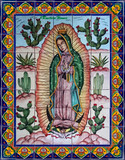 tile mural virgin of tepeyac