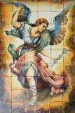 archangel saint Michael bathroom wall tile mural
