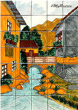 river kitchen wall tile mural