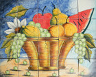 fruit basket kitchen tile mural