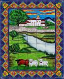 tile mural ganado