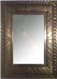 vintage tin mirror