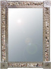 river stone tin mirror