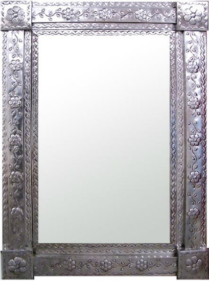 hammered tin mirror