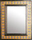 mosaic tin tile mirror