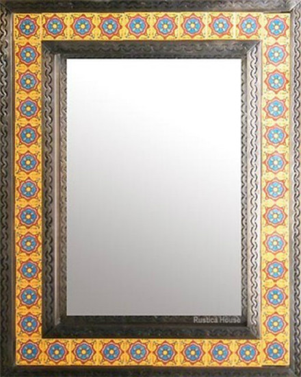mosaic tin tile mirror
