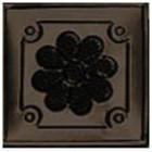 antique dark tin tile mirror