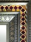 mosaic tin mirror detail
