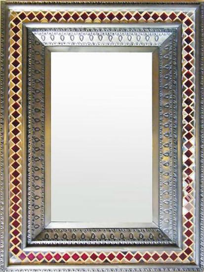 mosaic tin mirror
