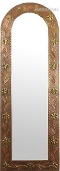tall tin arch mirror