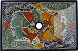 rectangular Southeast talavera vessel sink