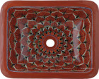 rectangular talavera sink peacock terra cotta