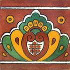 rustic tile mural