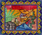 tile mural singer