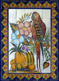 decorative bathroom wall tile mural