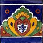 Mexican tile mural