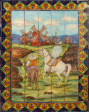 tile mural windmills