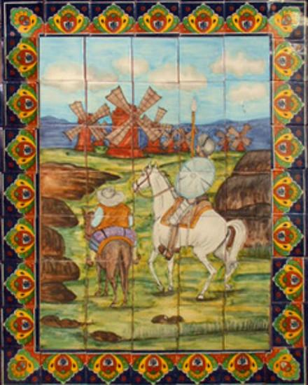 tile mural windmills