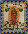 tile mural Virgin Guadalupe with Calla Lilies