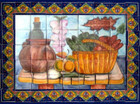 tile mural vegetable basket