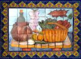 tile mural vegetable basket