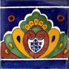 hand painted tile mural border